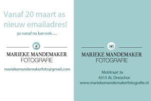 Marieke Mandemaker nieuw email adres